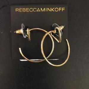 Rebecca Minkoff mini heart hoop earrings